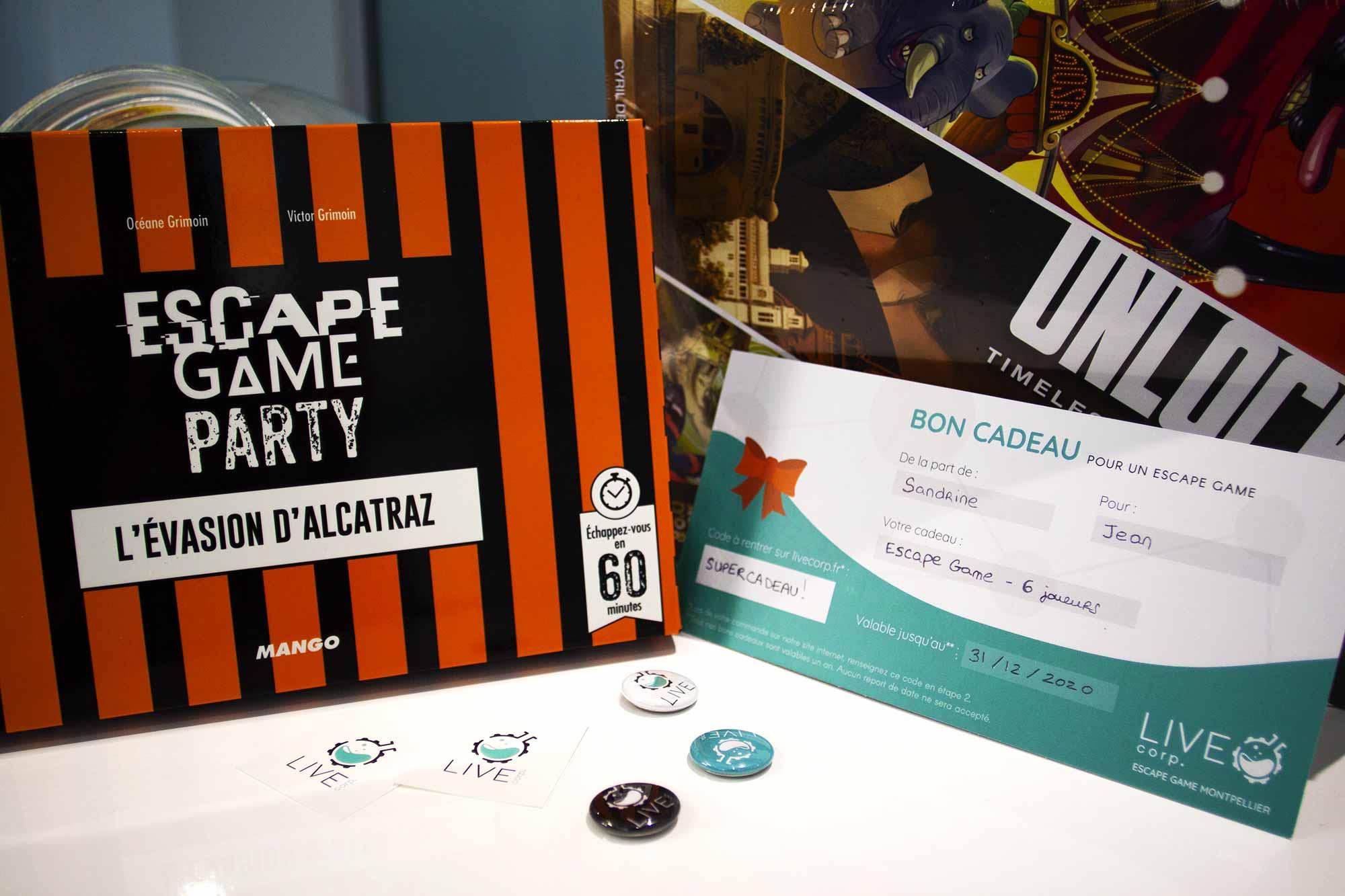 Coffret cadeau LIVE Corp. Escape Game