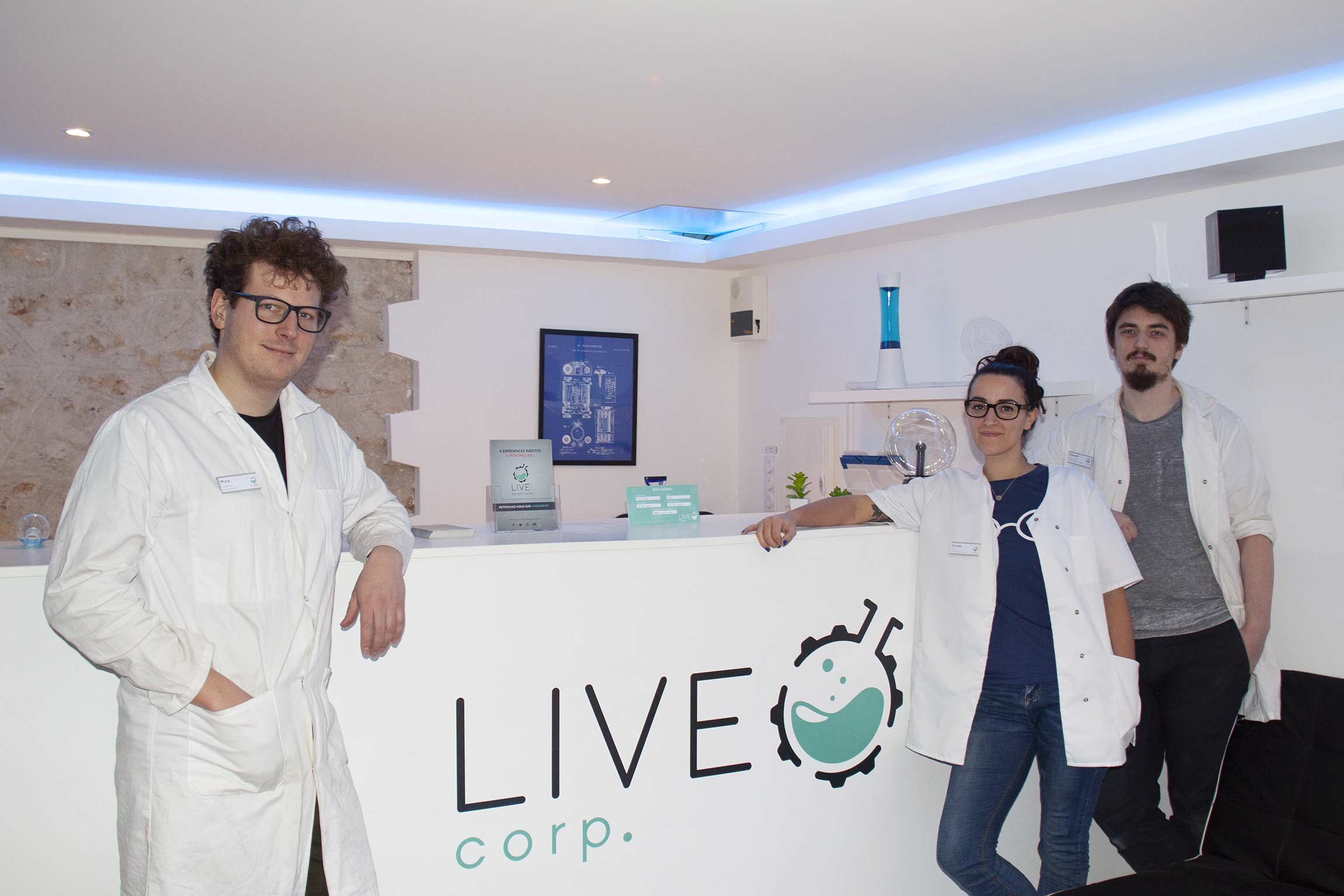 Les laborantins de LIVE Corp. Escape Game à Montpellier